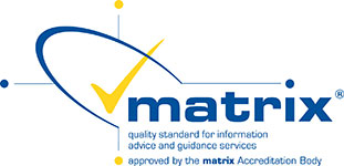 Logo for the matrix Quality Standard for Information Advice and Guidance